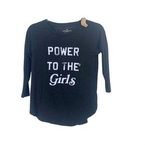 Power To The Girls American Eagle XS Plush Top NWT